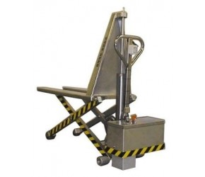 Nerezový nůžkový paletový vozík elektrický