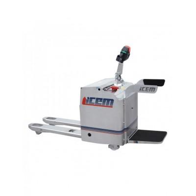 Nerezový elektrický paletový vozík s plošinou pro obsluhu TPCX 20 AR , 2t