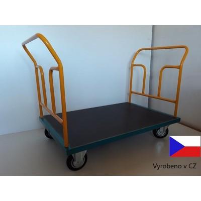 Plošinový vozík s dvěmi madly, 0,5 t