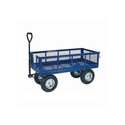 Plošinový vozík s ojí a sklopnými bočnicemi TT300, 150 kg