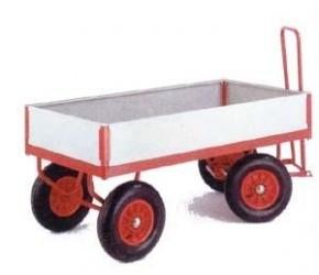 Plošinový vozík s ojí a bočnicemi, 500, 750 a 1000 kg