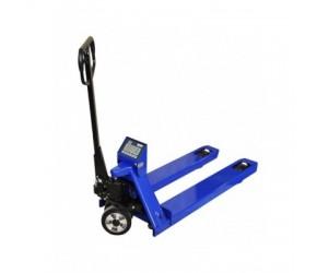 Dlouhý paletový vozík s váhou KPZ 71-9 , 1,8 m , 2,2 t, dílek 1000g