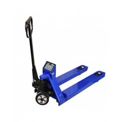KPZ 71-9 Dlouhý paletový vozík s váhou, 1,8 m , 2,2 t, dílek 1000g